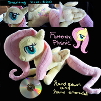 Hand sewn and Embroided Fluttershy Plush by TheStripedKit