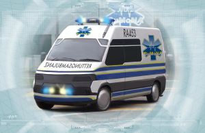 Shadowrun Ambulance by raben-aas