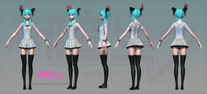 Hatsune Miku: High Poly by HazardousArts