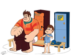 Wreck it Ralph and Fix it Felix Jr - Gearing up by GdGreat