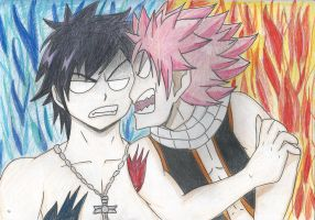 Gray And Natsu by bleepbloop559