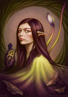 Fantasy Self Portrait by ArtofNyra