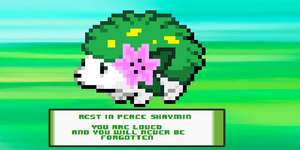 In memory of Shaymin by Celestion