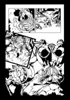 Battle Chasers Page Inked by Sereglaure