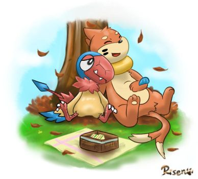 Autumn picnic by Risenpaw