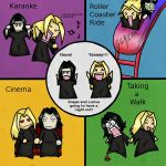 Snape and Lucius having fun? by VulpineFlame