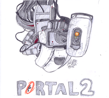 GLaDOS drawin by Wolf-Shadow77