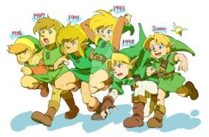 Link's evolution by YoshinoAkie
