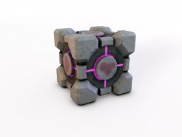 weighted companion cube by DrMonkeyface