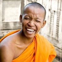 Happy Monk by mjbeng