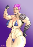 Fanart - Zarya by zedeki-arts