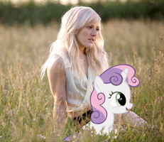 Ellie Goulding and Sweetie Belle by AdrianImpalaMata