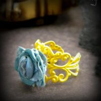 Miniature Rose Ring: Yonic Vagina Art Ring by VulvaLoveLovely