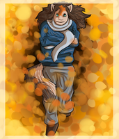 Playing in the Leaves by SanjanaStone