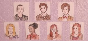 The Doctors and their companions. by Ladyly