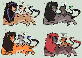 Lion and Cub adoptables by Kainaa
