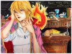 Howl's Moving Castle: Howl and Calcifer by marikit