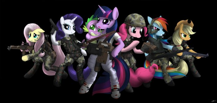 My Little Pony Colonial Marine by CorruptionSolid