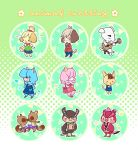 animal crossing 1.5 buttons by ameru