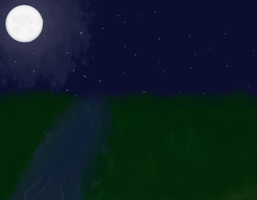 The freezing Moon and It's Sleeping Water by AnamayCat