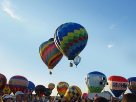 Balloon Festival 14 by Dracoart-Stock