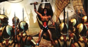 Wonder Woman wallpaper - Diana of Themyscira by ethaclane