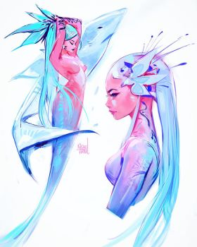 Mermaids #3 by rossdraws