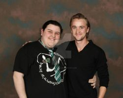MegaCon Me and Tom Felton by EnderTrouble