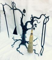 Tree Fireplace Tools by artistladysmith