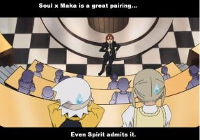 SoulxMaka Motivational Poster by NarutoEater