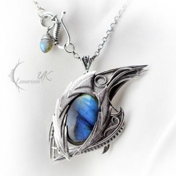 MYXGHAR DRACO - silver and labradorite by LUNARIEEN