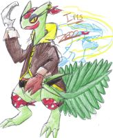 My Pokemon OC - Iris the Sceptile :3 by MotherGarchomp622