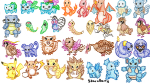 1st Gen Pokemon: Part 1 by StarxBerry