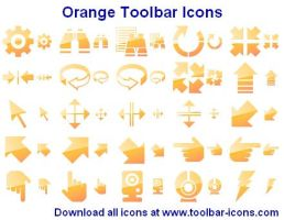 Orange Toolbar Icons by shockvideo