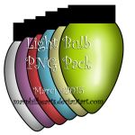 Light Bulb Png Pack by marphilhearts