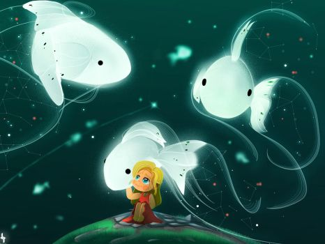moons fish by DohaPainter