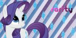 Rarity Twitter Header by AceofPonies