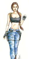 Lara Croft - Nevada Outfit in color by alineshenon