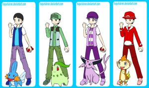 The Beatles Pokemon trainner by MikaTheBlueKitty