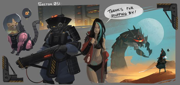 Sector 051: Sketchdump by RyoTazi