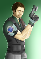 The epic finale will begin : Chris Redfield by NurulSlaluwBluee