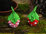 Strawberry and Raspberry (3D origami) by Melsaran