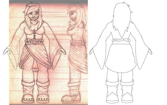 Faeth Character Reference Sheet WIP by AnonTheDarkOne