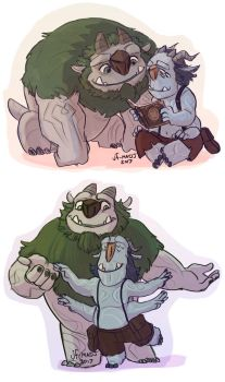 Troll Hunters- Blinky and Arrrgh by MadJesters1