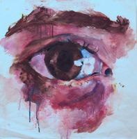 Really Rubbish Eye Painting by 112thinlinetothrone