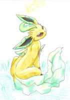 thorn the leafeon by pitch-black-crow