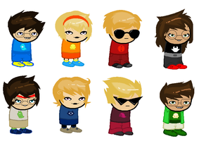 Kids Sprites for AU by sleuthingLicorice