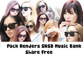 Pack Renders SNSD Music Back by MeoShin