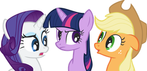 Rarity, Twilight and Applejack by greseres