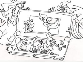 Lineart 3DS by BoredX